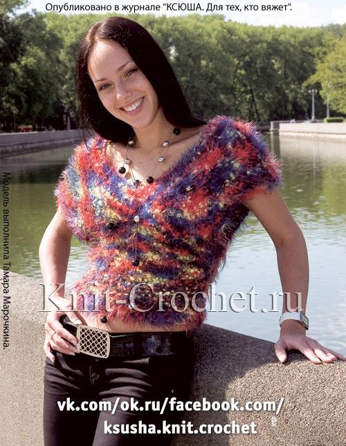 топ безрукавка спицами жилеты женские спицами вязание спицами