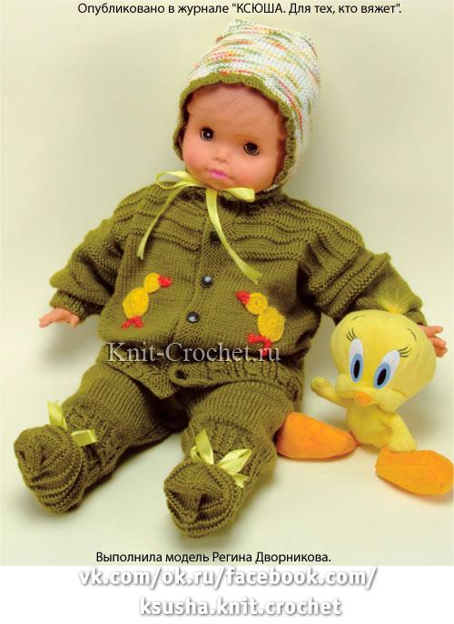 Вязать костюм для младенцев 163