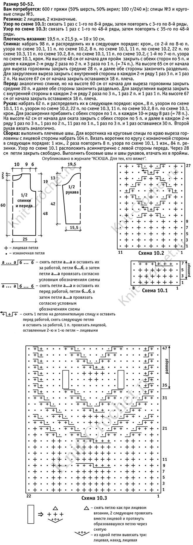 Схемы для объемного вязания спицами