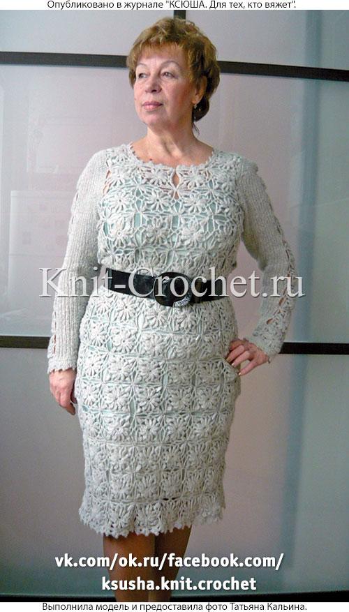 платье крючком из квадратных мотивов платья связанные крючком
