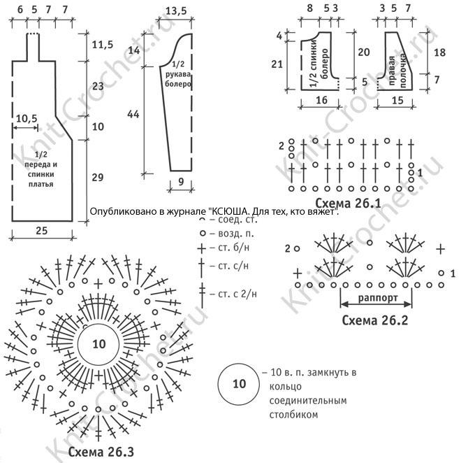 Выкройки, схемы узоров с