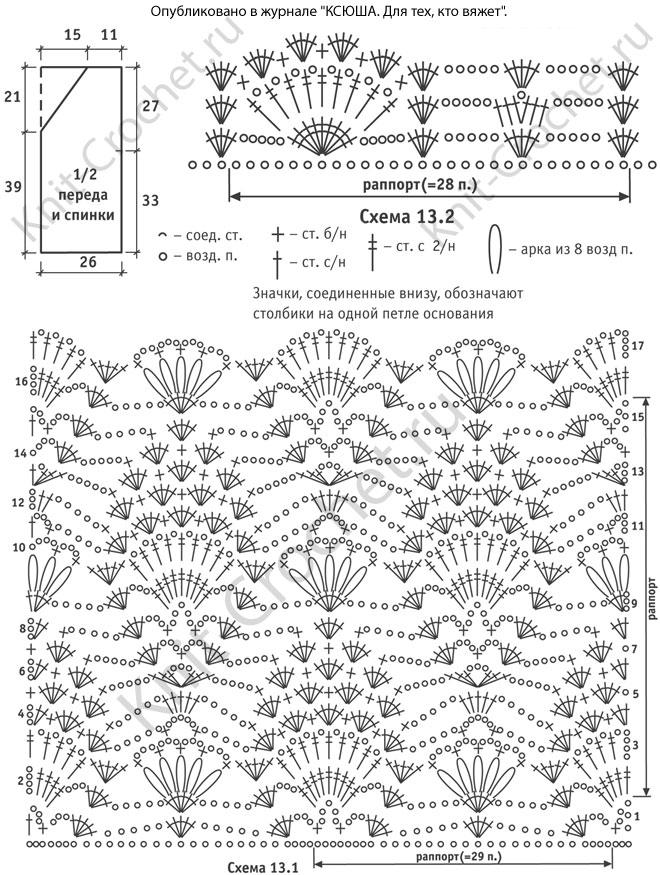Жилетки крючком схемы вязания новинки 144