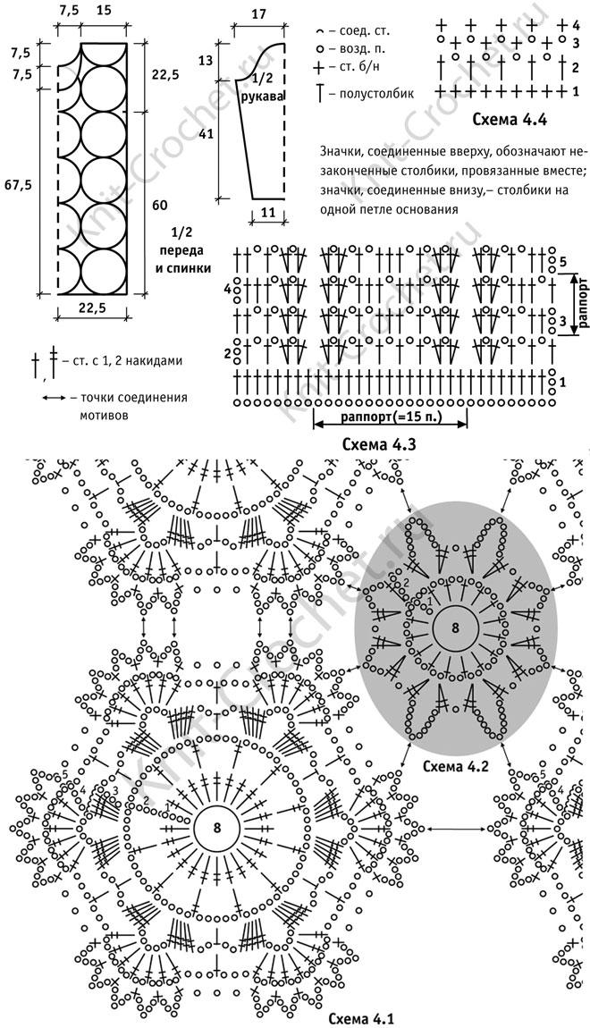 Выкройка, схемы узоров с