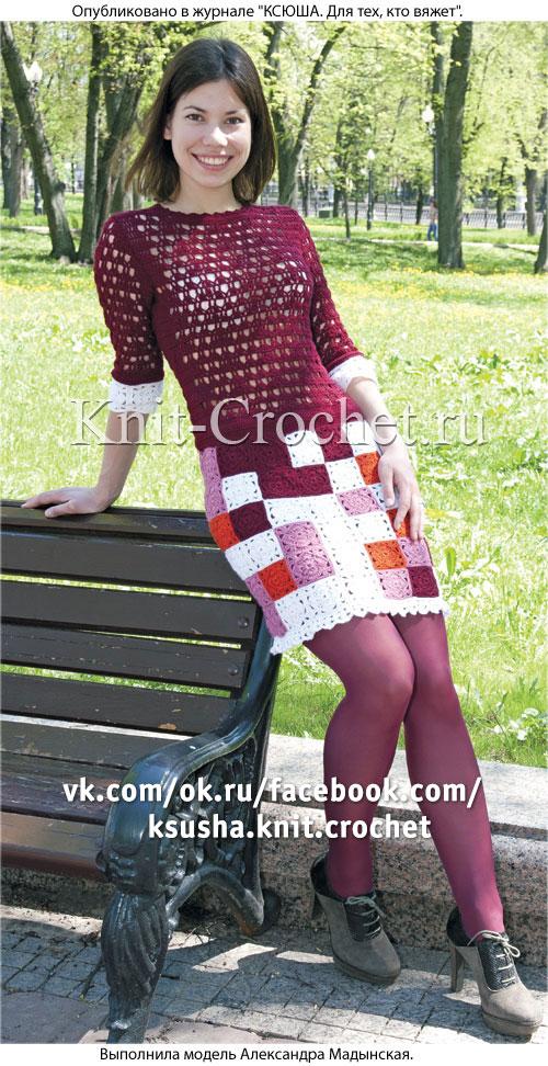 Вязания крючком юбки из квадратов