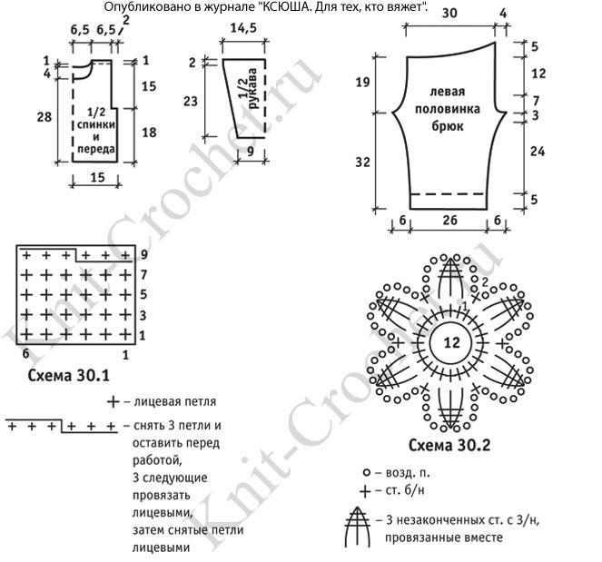 Вязание детского комплекта схема 236