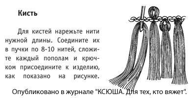 Изготовление кисти из пряжи, для оформления края вязаного изделия.