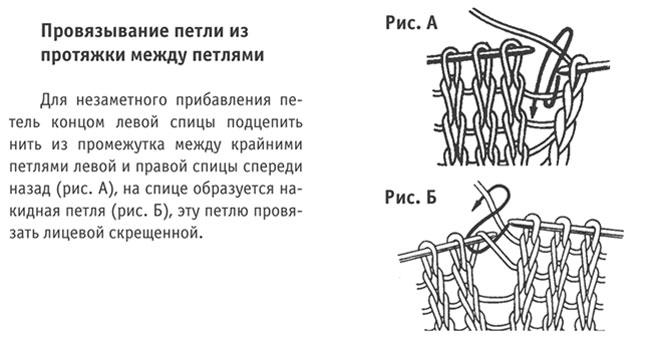 Вязание спицы протяжка схема 57