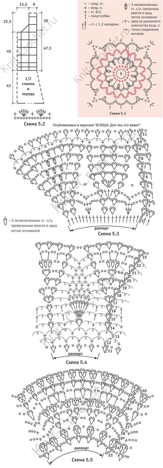 Вязание крючком мотивы для юбки 36