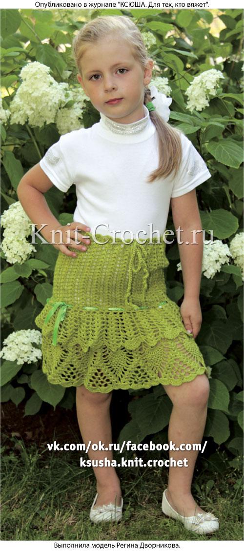 Вязание для девочки 6 лет юбка