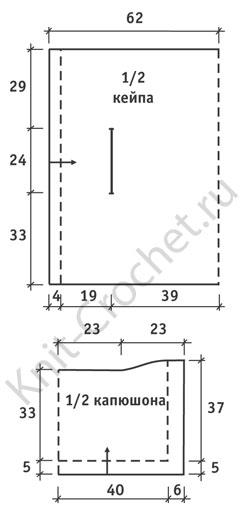 Кейп вязание схема и выкройка 71