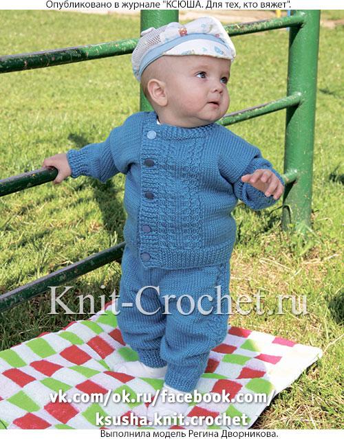 костюм для малыша до года на спицах малышам на спицах вязание