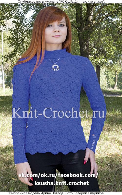 пуловер спицами с застежкой на спине пуловеры женские спицами